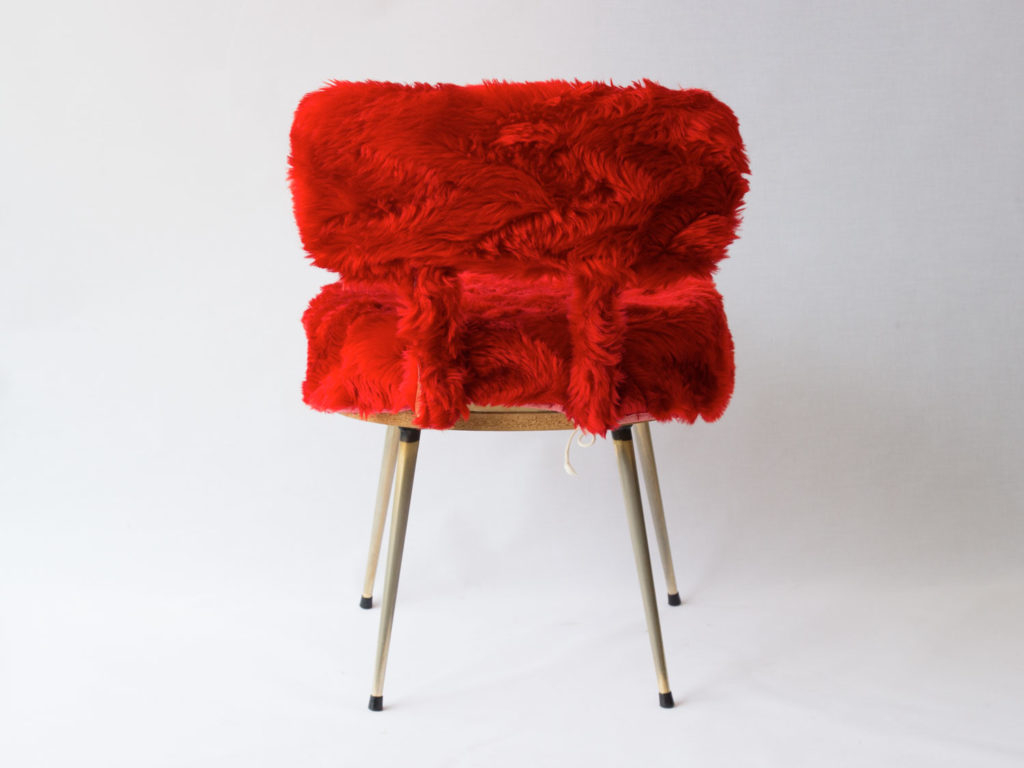 Chaise Pelfran rouge
