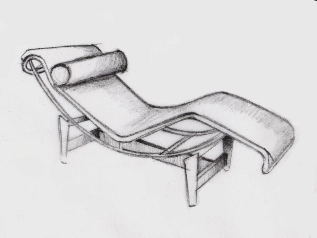 Croquis chaise longue