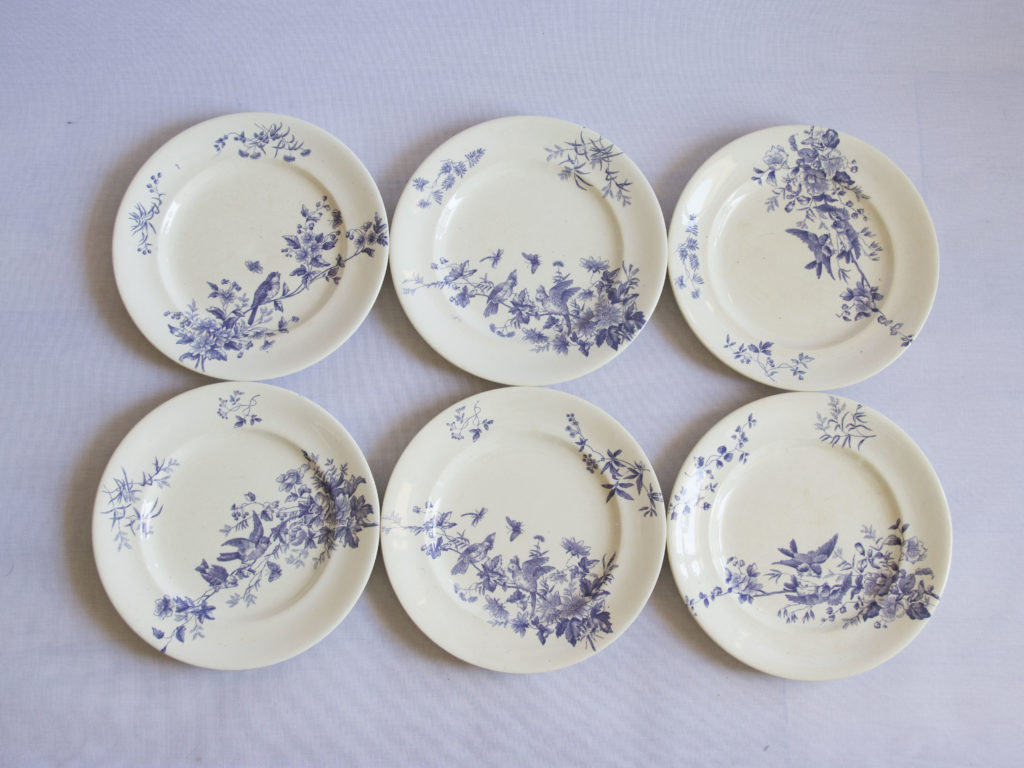 Lot de 6 assiettes Longwy