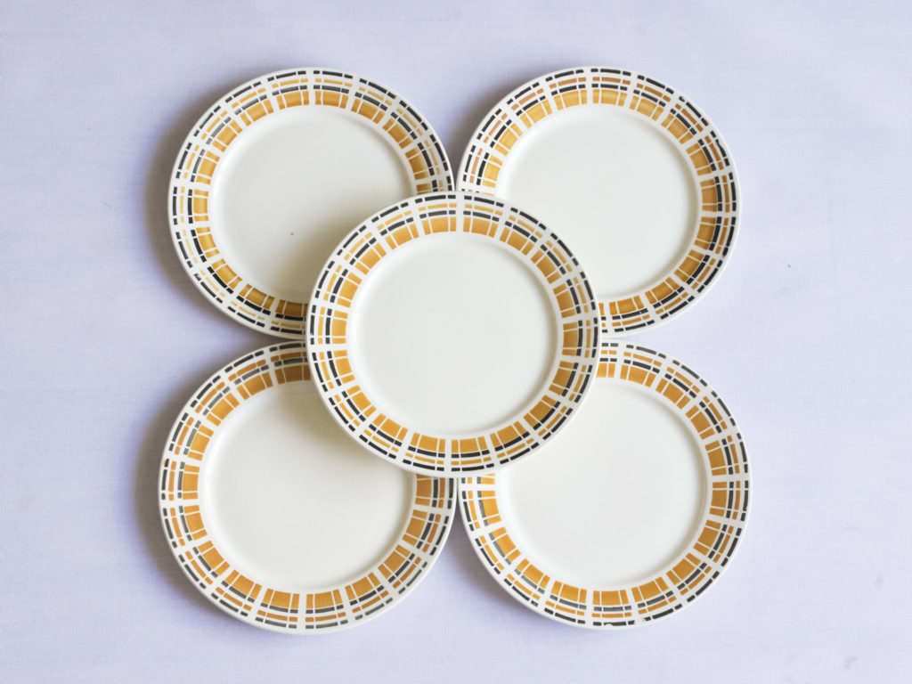 Lot de 5 assiettes Badonviller