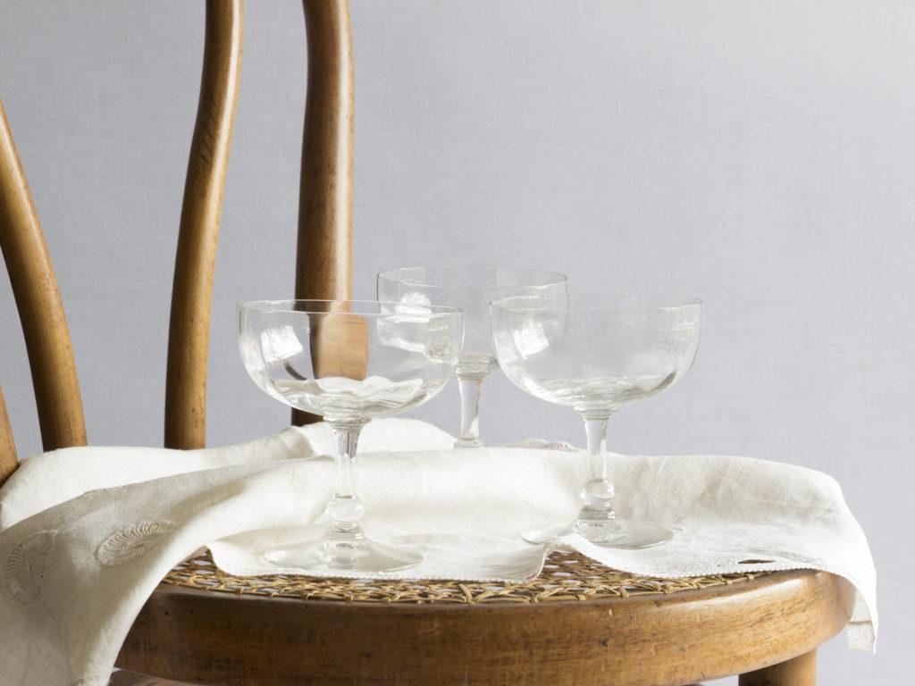 Lot de 6 coupes à champagne en cristal