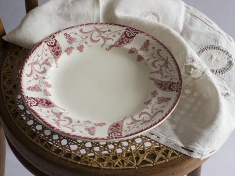 Lot de 8 assiettes Longwy -modèle Rambouillet-