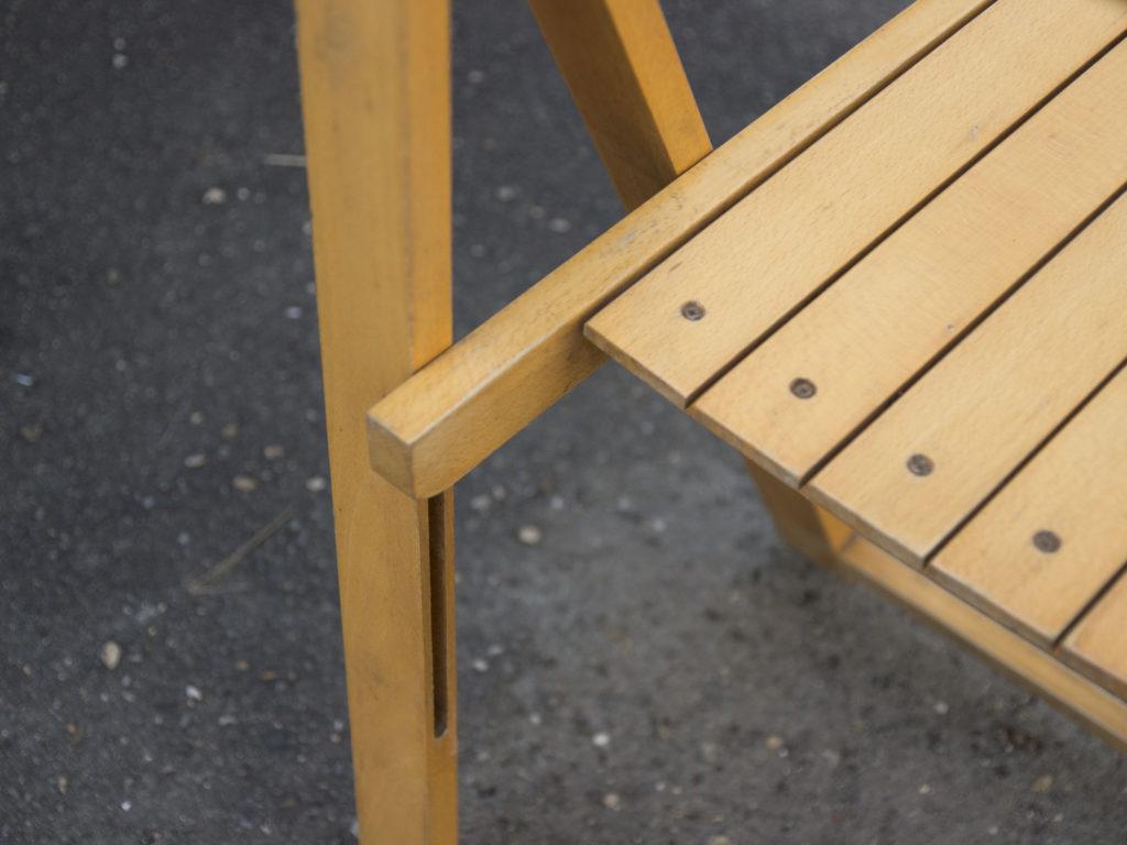 Paire de chaises pliantes d'Aldo Jacober