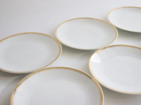 Lot de 6 assiettes à dessert en porcelaine