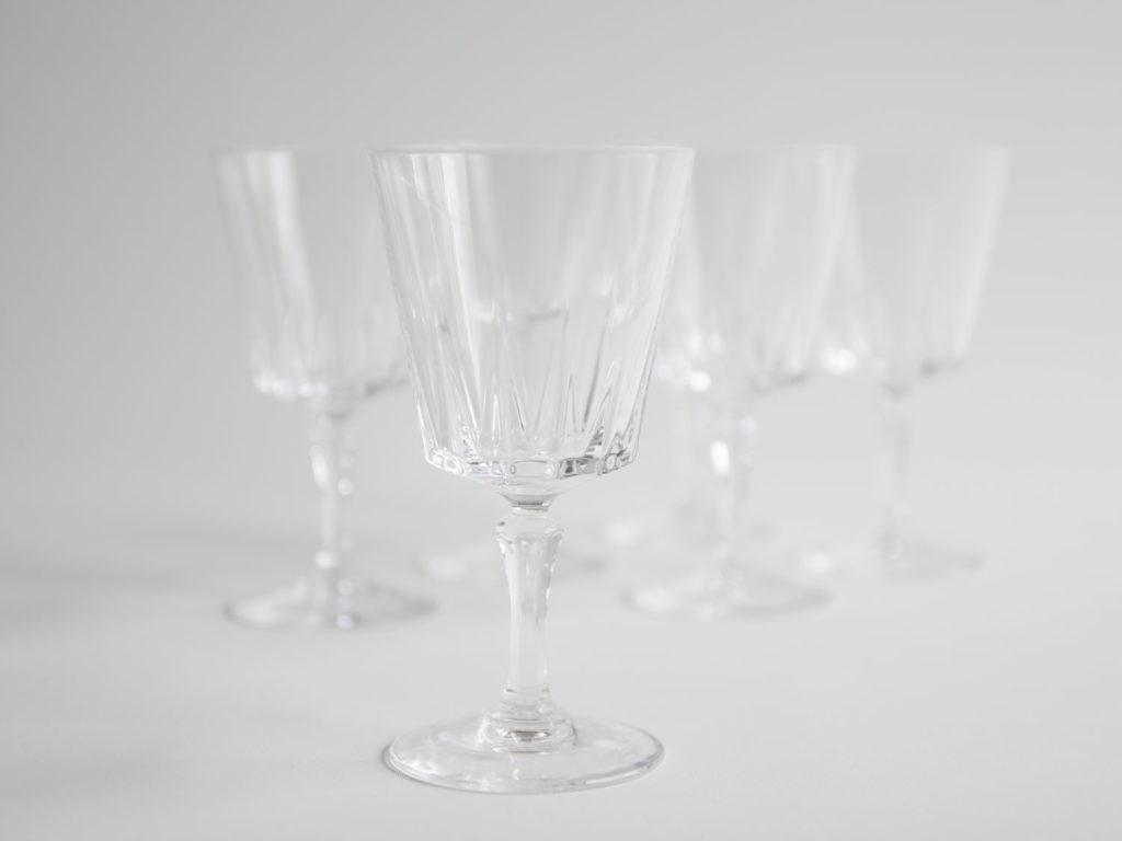 Lot 6 verres à pied en cristal
