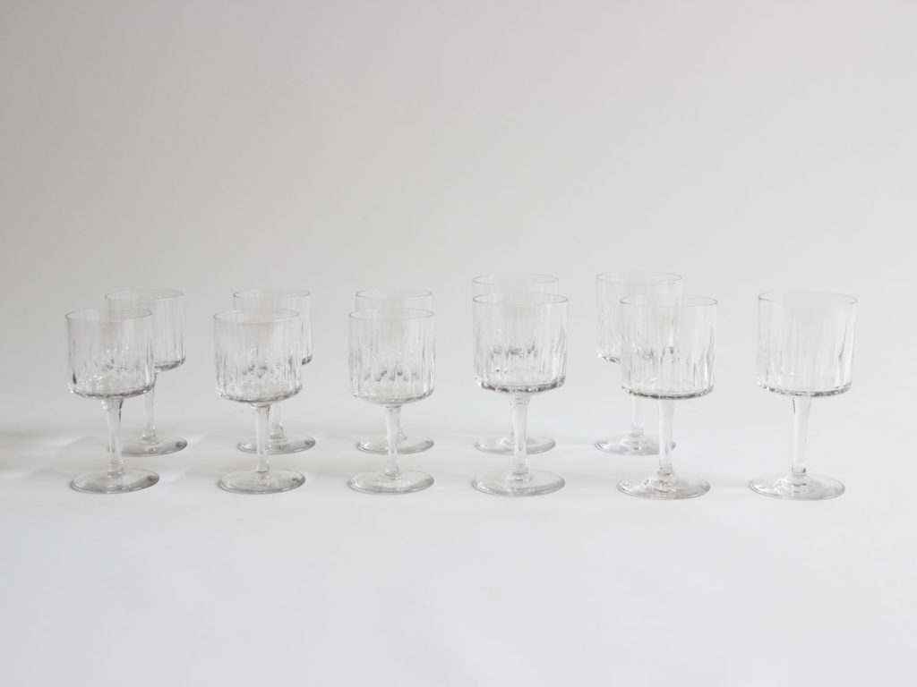 Lot de 11 verres Bayel en cristal