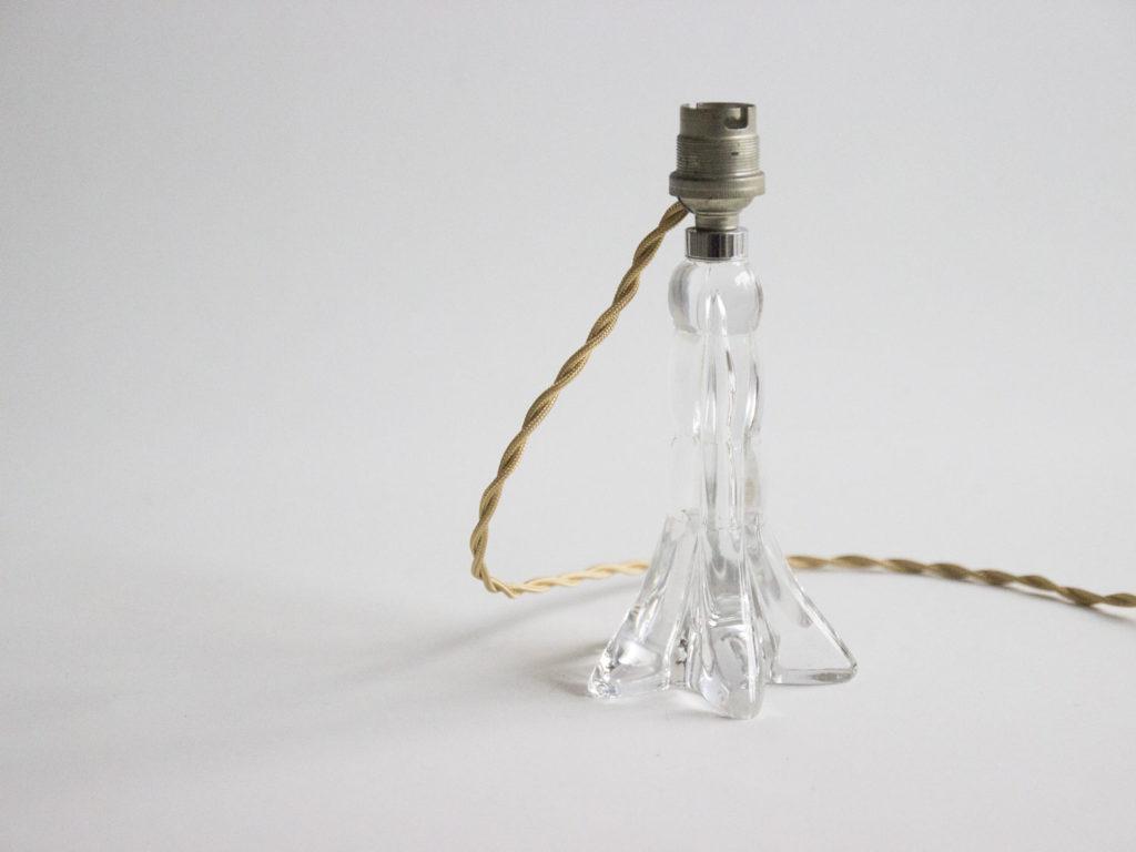 Pied de lampe en cristal
