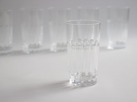 Lot de 6 verres à orangeade en cristal
