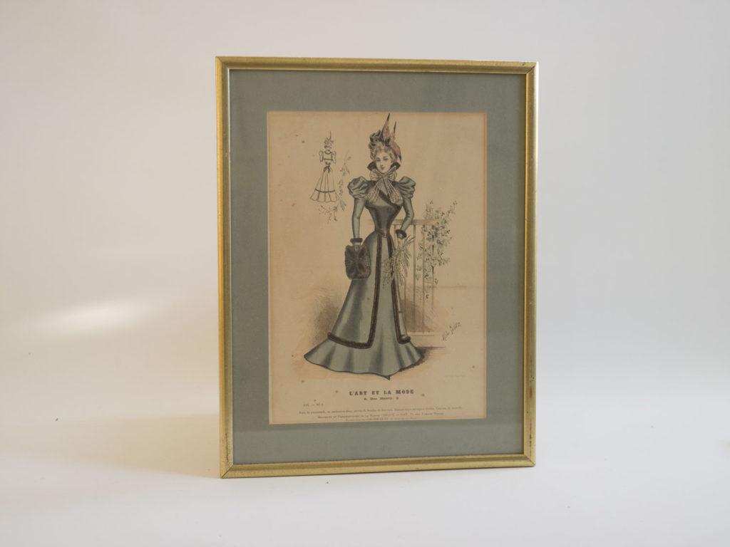 Gravure ancienne de mode