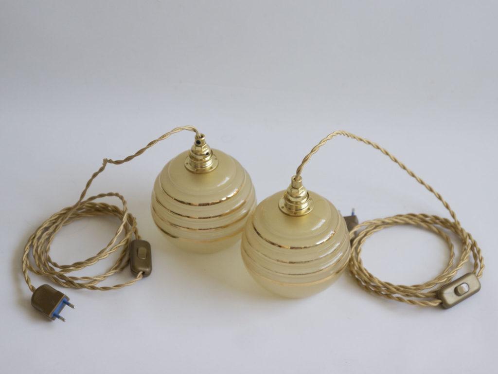 Paire de baladeuses dorées