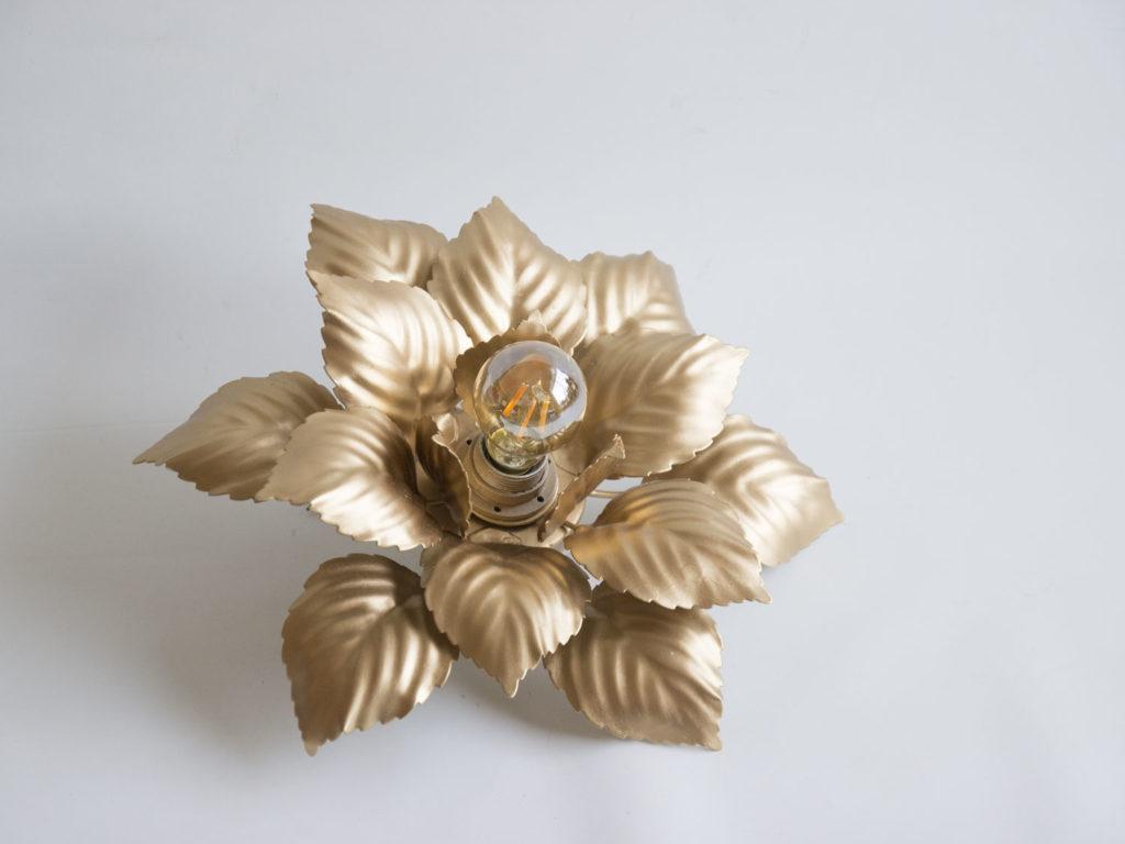 Plafonnier fleur doré