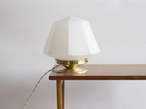 Lampe à poser opaline blanche