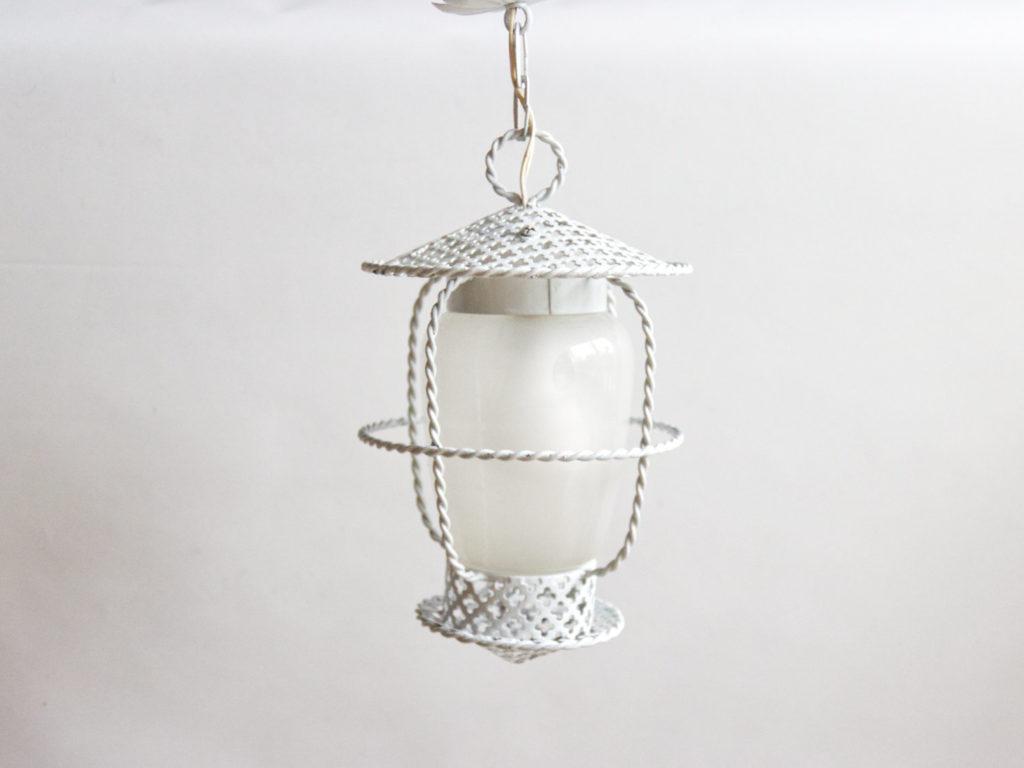 Lanterne en métal perforé