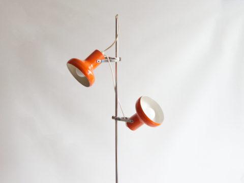Lampadaire orange des années 70