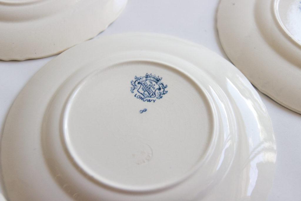 6 assiettes Longwy modèle Chantilly