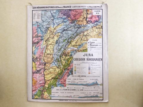 Carte scolaire ancienne -Jura et couloir rhodanien-