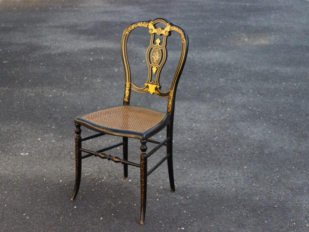 Chaise cannée Napoléon III