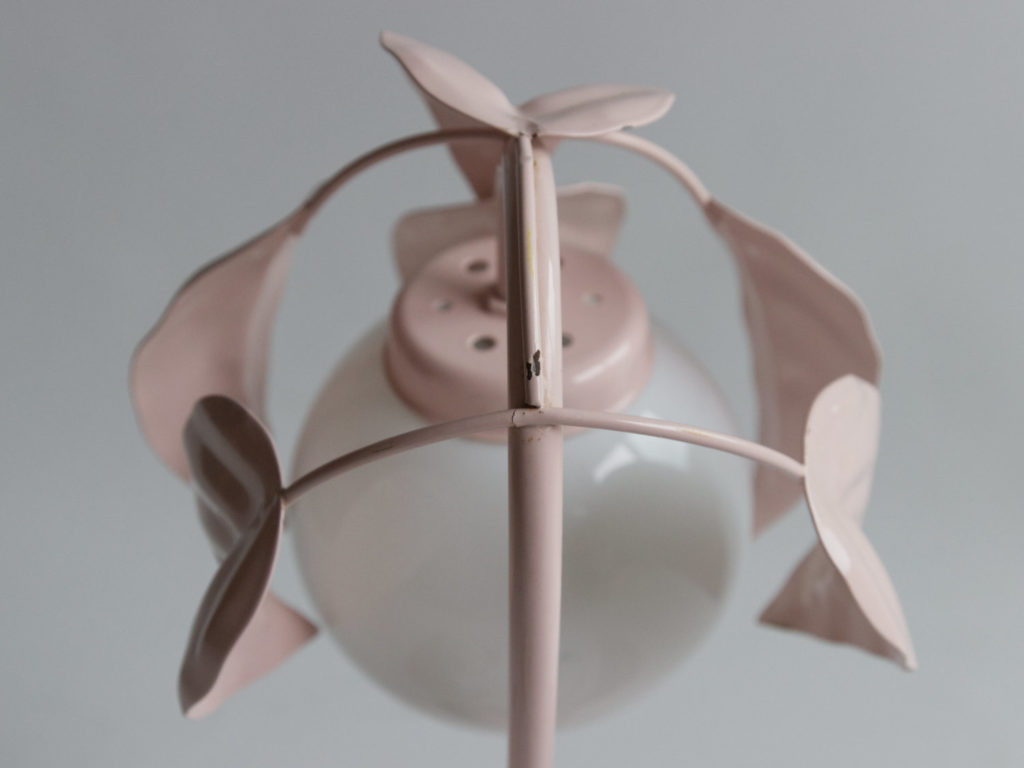Lampe florale à poser rose