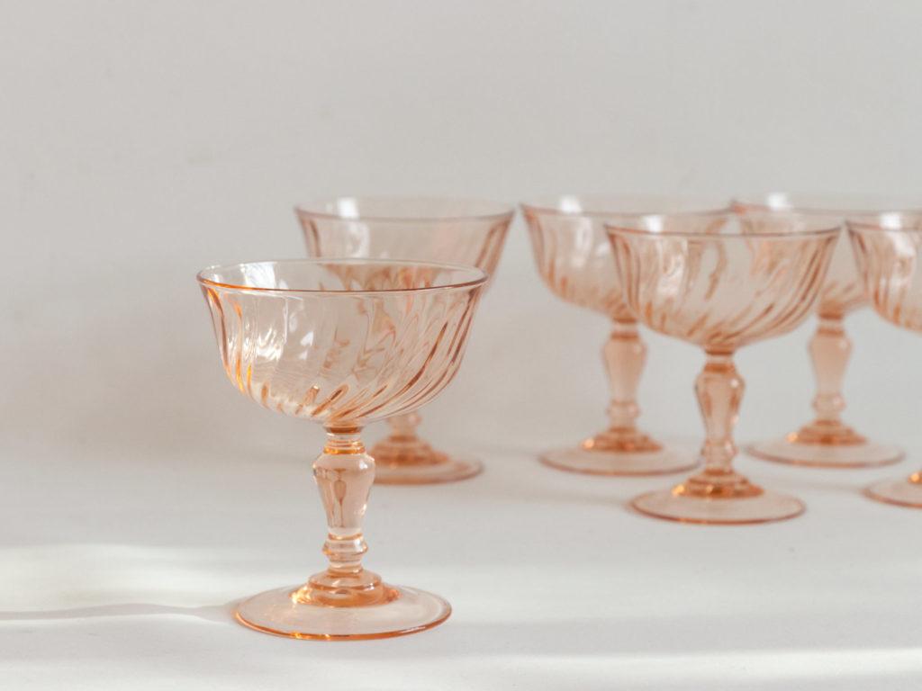 6 coupes à champagne Rosaline