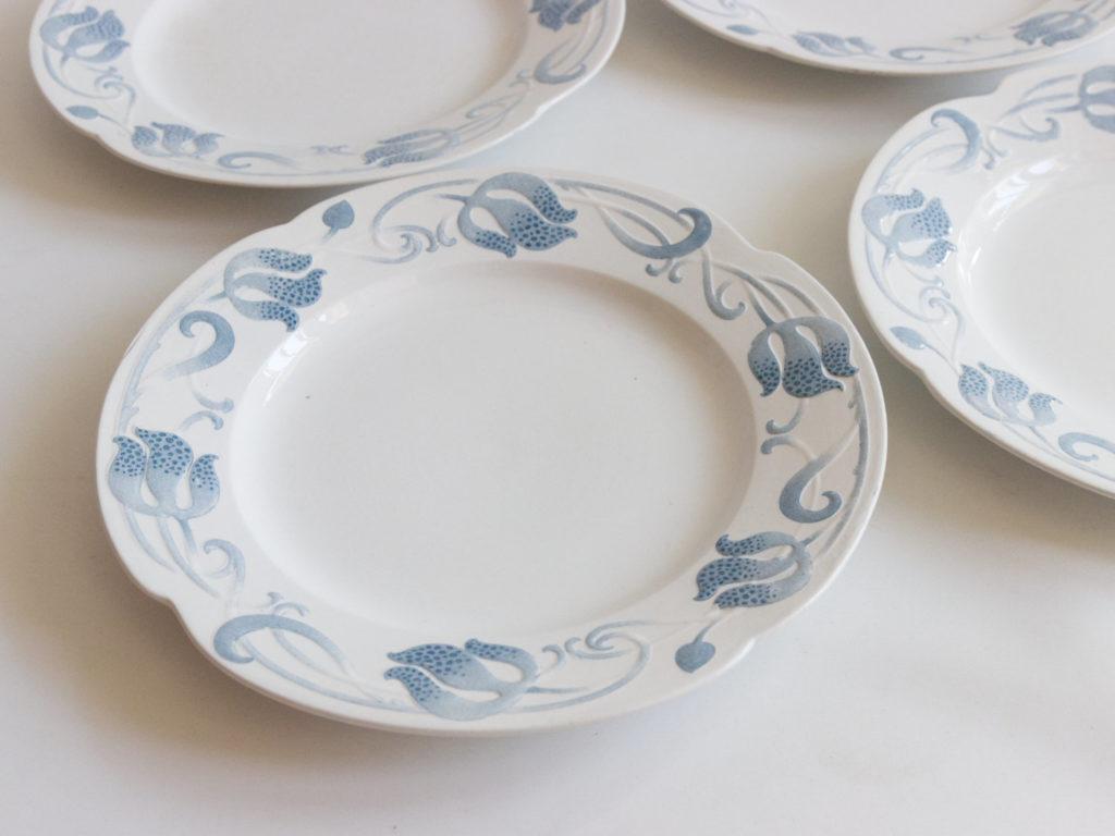 6 assiettes plates Sarreguemines modèle Tircis