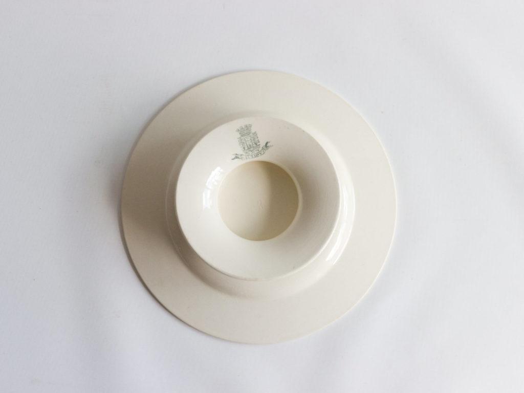 Assiette plate sur pied Gien modèle Aviary